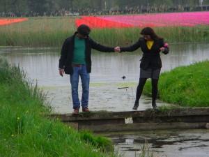 Eine Partnerschaft ist manchmal ein Balanceakt